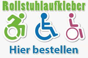 Rollstuhlaufkleber bestellen