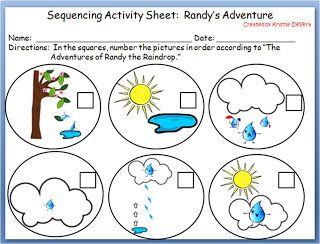 Worksheets Speech In Watercycl water cycle sequencing activity science pinterest i really enjoyed how this tied in a book especially because the is so based center activities sciences soci