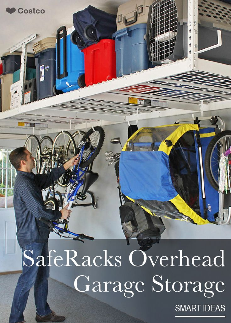 saferacks is the premier overhead garage storage system these high quality storage racks help to