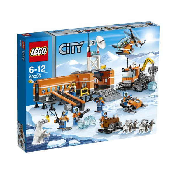 Lego City - Campamento Base Artico; Descubre los secretos de las tierras del Ártico con el Campamento Base Ártico de LEGO. Emprende grandes expediciones con la moto de nieve y el equipo de trineo de huskies. Investigar los secretos del hielo con el poderoso vehículo de exploración.... En  http://www.opirata.com/lego-city-campamento-base-artico-p-26348.html