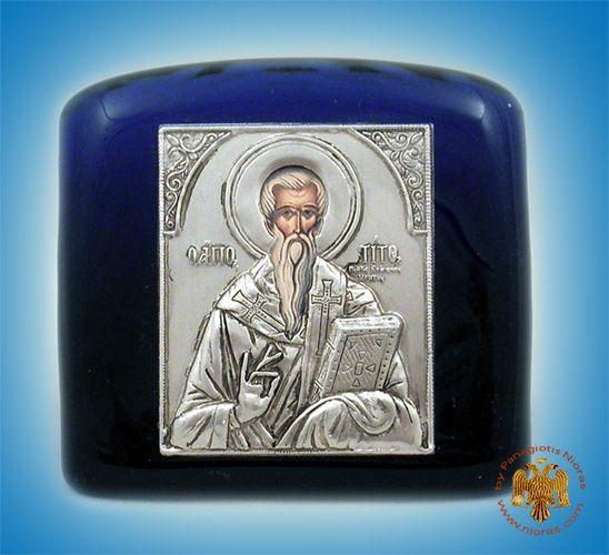 Titos Icon on Blown Glass A 6.5x11cm