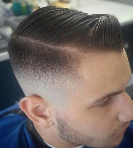 Pompadour-Comb-Over Trendy Thick Hair Hairstyles For Men