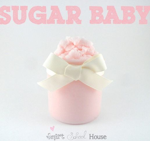 A Sugary Sweet Body Polish that Leaves Your Skin Feeling Baby Soft (made with baby oil and baby wash). #beauty #scrub #DIY