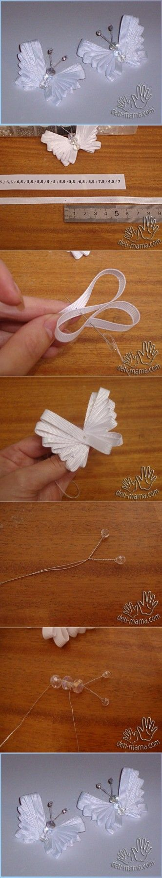 DIY ribbon butterfly Instructions with Picture Tutorial