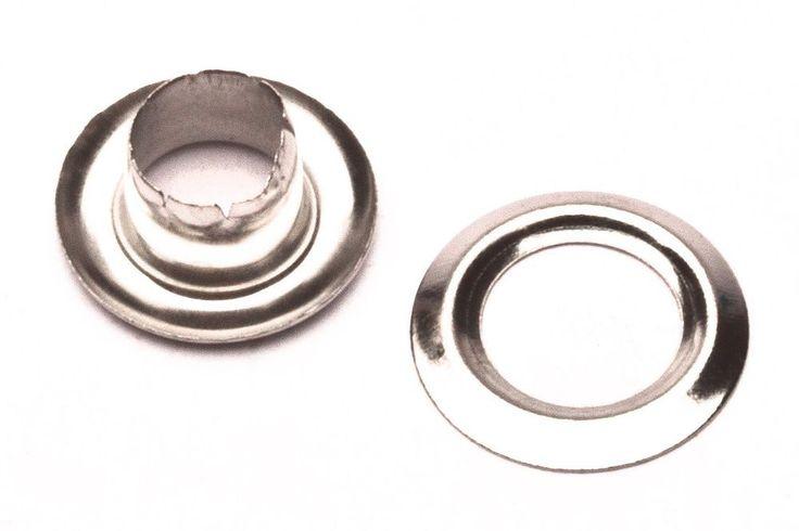 "100 #0 1/4"" Grommet Machine Grommets & Washers Nickel Eyelets Hand Press Tool #GOLDSTAR"
