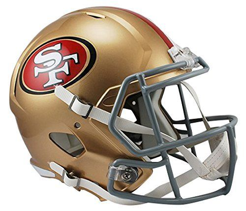 NFL San Francisco 49Ers Riddell Full Size Replica Speed Helmet, Medium, Gold by Riddell. NFL San Francisco 49Ers Riddell Full Size Replica Speed Helmet, Medium, Gold. Medium.