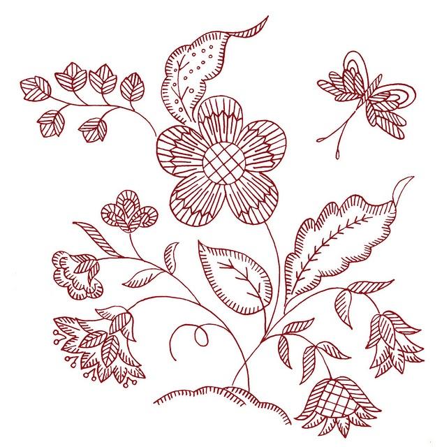 Best jacobean patterns images on pinterest