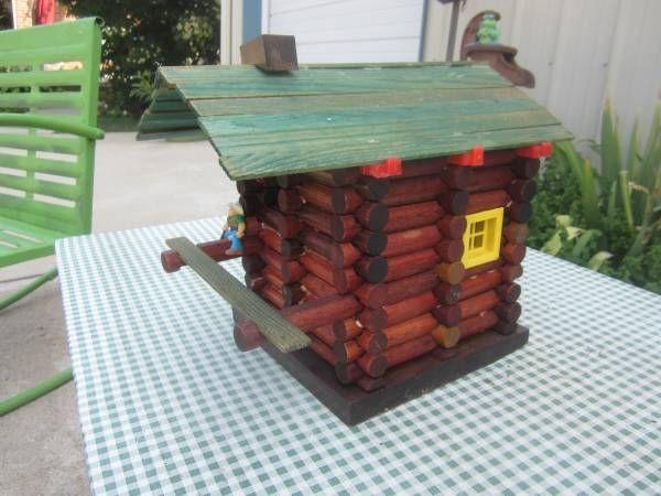 7 Best Lincoln Log Birdhouses Images On Pinterest Bird