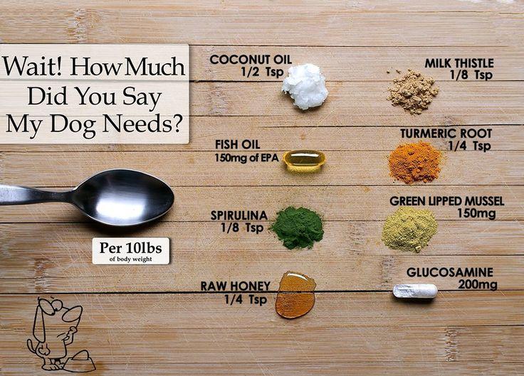 Measurements For Dog Supplements In Homeade Dog Food