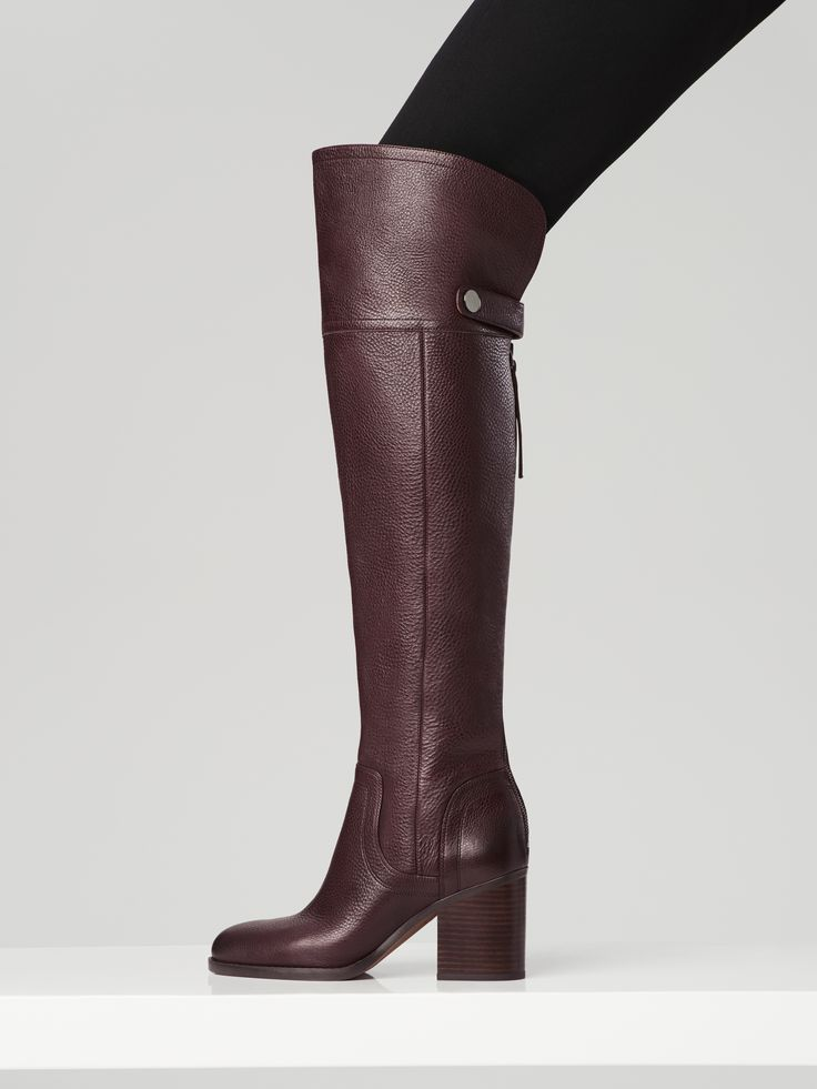 Add allure this season with this stunning over-the-knee boot.