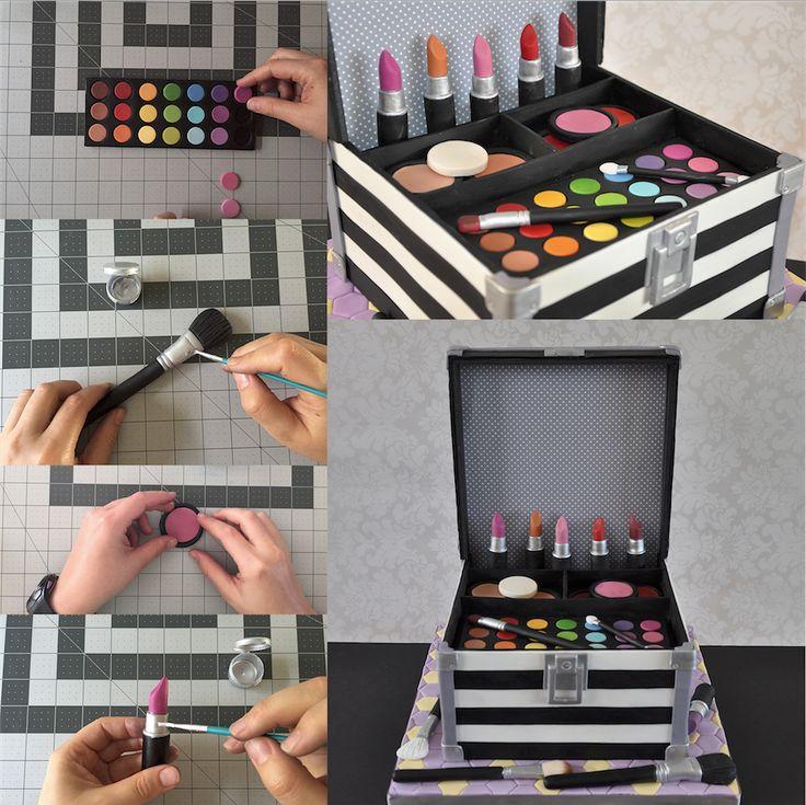 makeup box cake tutorial