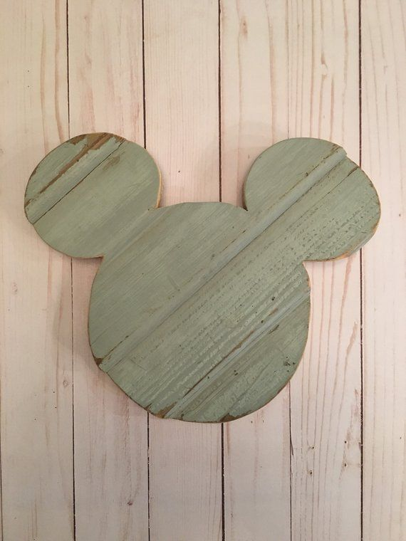 Disney Home Decor Wooden Mickey Ears Christmas Gift