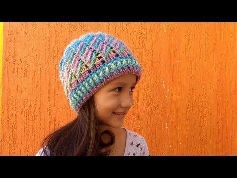 GORRO INVIERNO en crochet (ganchillo) UNISEX ❤ - YouTube