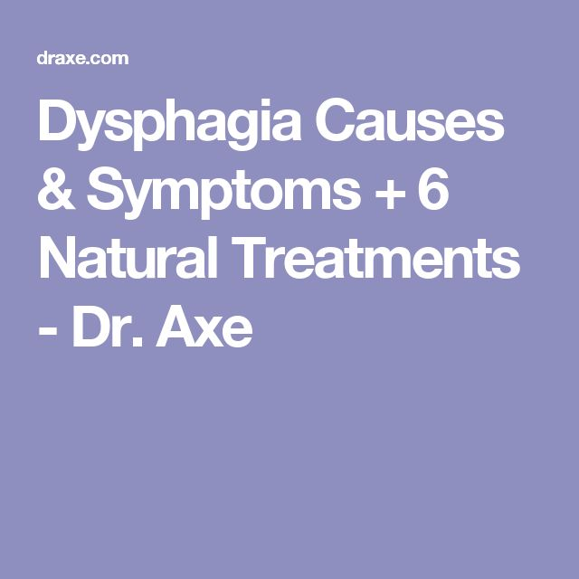 Dysphagia Causes & Symptoms + 6 Natural Treatments - Dr. Axe