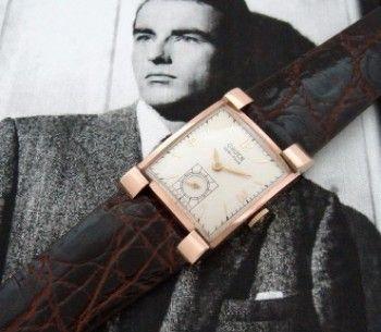 Men's vintage watch - 1940 Gruen Veri Thin Watch in 14k Rose Gold | Strickland Vintage Watches