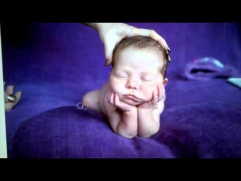behind the scene: newborn posing composite pose