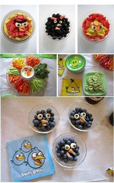 Angry Birds snack ideas for parties! :)