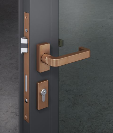 Chipperfield lever handle set fsb david chipperfield check it on architonic copper in - Fsb pocket door hardware ...
