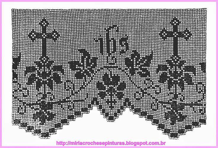 MIRIA CROCHÊS E PINTURAS: BARRADOS DE CROCHÊ COM MOTIVOS RELIGIOSOS