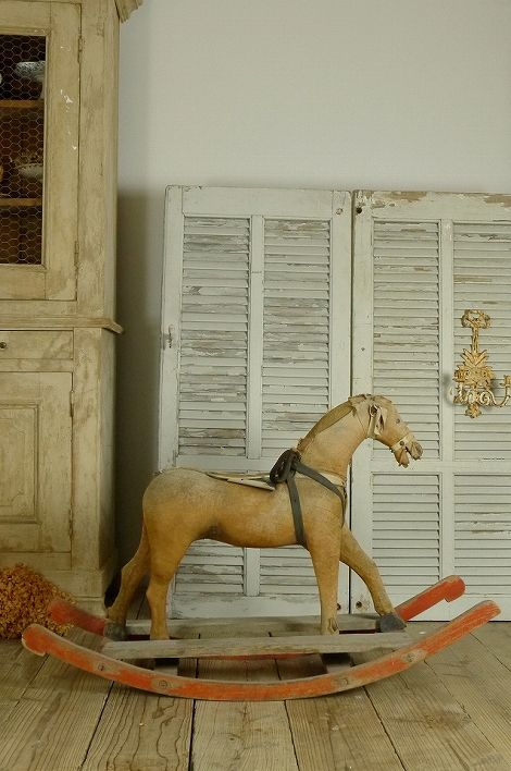 Antique Rocking Horse Looks Great His Colors And Textures Blend In With
