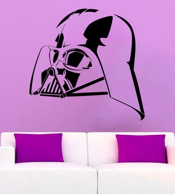 Darth Vader Wall Sticker Star Wars Vinyl Decal Comics da parete in vinile di decalcomanie parete Decor /16bhj/