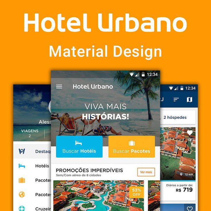 """查看此 @Behance 项目:""""Hotel Urbano - Material Design""""https://www.behance.net/gallery/35509843/Hotel-Urbano-Material-Design"""