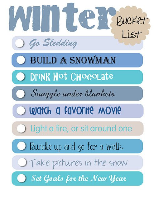 Occasionally Crafty: Winter Bucket List and Clipboard