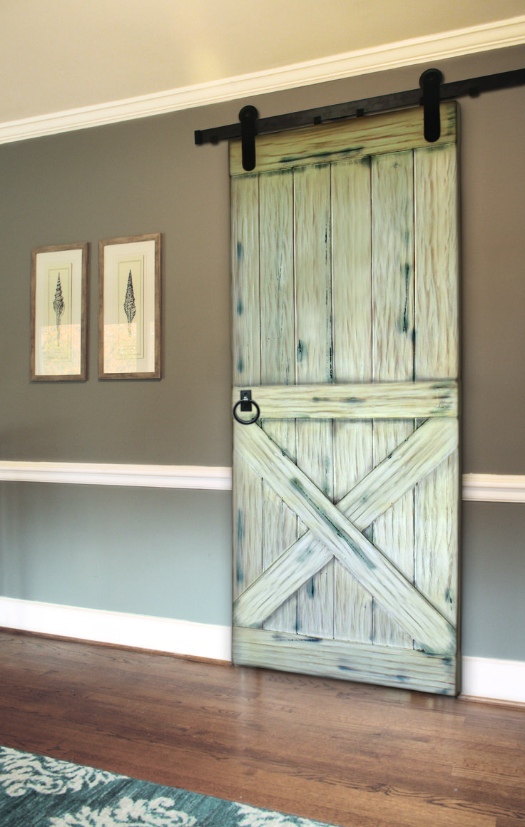 lower x plank barn door w ring pull and whitewash finish photographed by cristina avgerinos. Black Bedroom Furniture Sets. Home Design Ideas