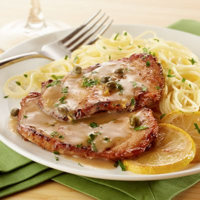 Thin pork chops topped with a quick pan sauce make a fast dinner for busy nights.