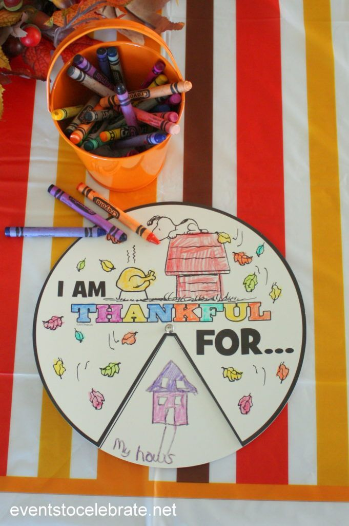 Love A Charlie Brown Thanksgiving? You'll love these Thanksgiving activities for kids! The craft doubles as a snack and coloring activities keep kids busy!