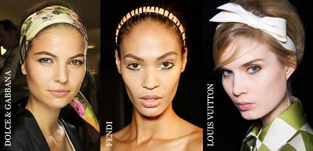 Dolce & Gabbana, Fendi ve Louis Vuitton defilelerinde saç aksesuarları en az kıyafetler kadar iddialı.