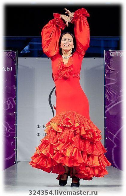 Платье для фламенко Кармен - платье для фламенко,кармен,красное платье