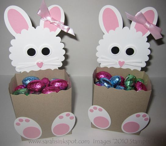 Easter Bunny Treat Boxes by willsygirl - Cards and Paper Crafts at Splitcoaststampers
