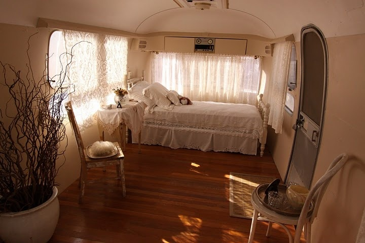 Airstream interior, Great idea knockout all the divider walls and kitchen stuff for a roomier cabin space!