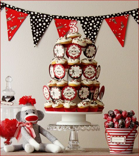 half birthday ideas | Sock Monkey: Baby Shower & Birthday Party Ideas - Design Dazzle