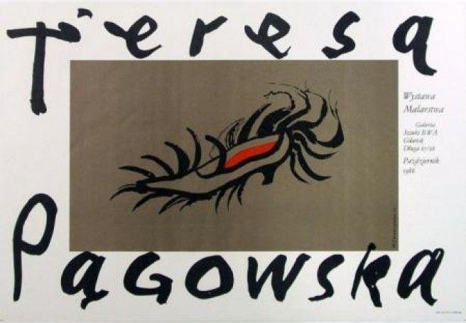 Poster plakat Henryk Tomaszewski - Wystawa Teresy Pągowskiej