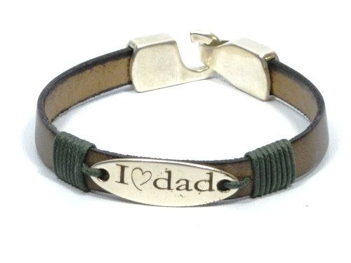 personalized jewelry for Dad * I love dad * new dad gift * engraved leather bracelet * gifts for dad * gifts for men * men bracelet