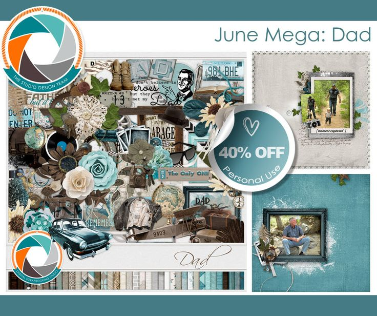 New Release: June Mega. This is an ode to my dad, to his generation growing up in post WWII, in the 50's and 60's. My dad had a, now vintage, blue car, perhaps a more baby blue. He took one final roadtrip the summer of 1966 with his fellow graduates, before marrying my mom. Before having kids. Before having me. This collection is my dad. Happy Father's Day! #digitalscrapbooking #scrapbooking #megacollection