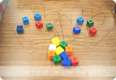 Children take a handful of cubes and try to split them between two hands evenly. If they get the same number in two hands, it is an even number. If not, it's odd!