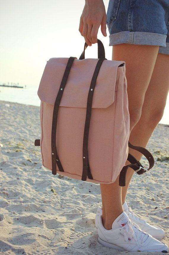 Toile de sac à dos pour femme avec des détails en cuir par Phestyn