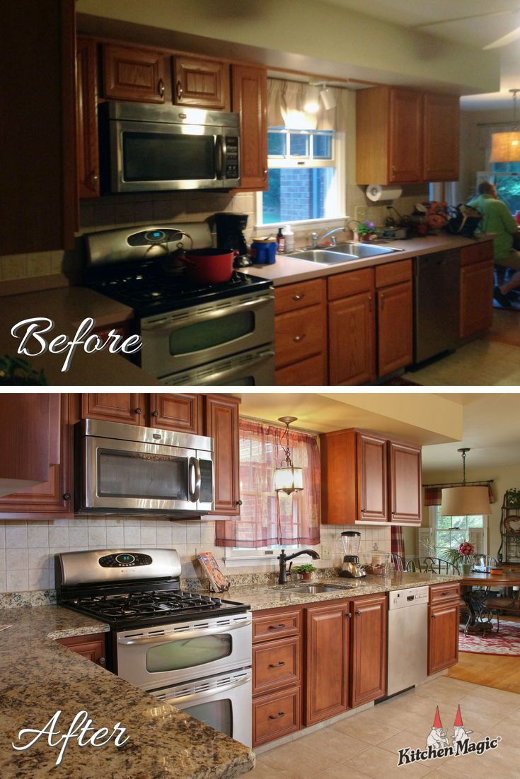 This Week S Before After Is Brought To You By Cabinet Refacing If Your Cabinets Have Good Bones Refacing Kitchen Cabinets Cabinet Refacing Kitchen Cabinets