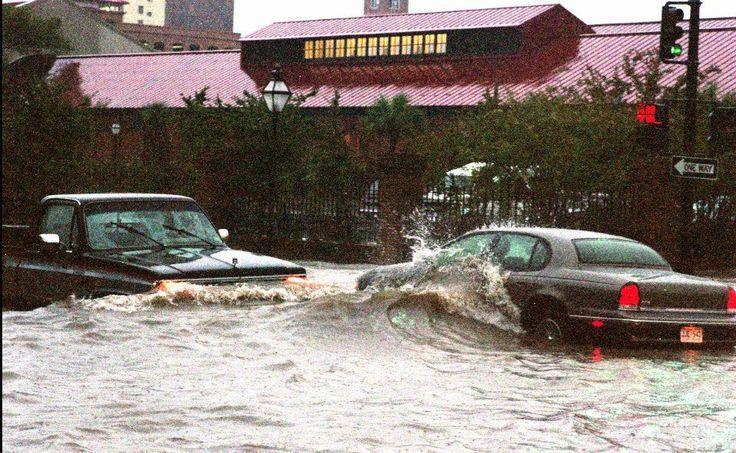 Charleston Visitors Center under water