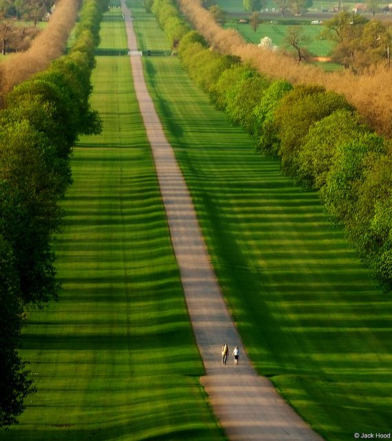 A Walk Through The Park, Windsor Great Park, Berkshire, UK this is the road that leads to Windsor Castle, photo by Jack Hood