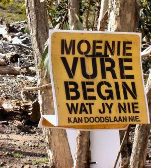 Mooie taal dat Zuid afrikaans