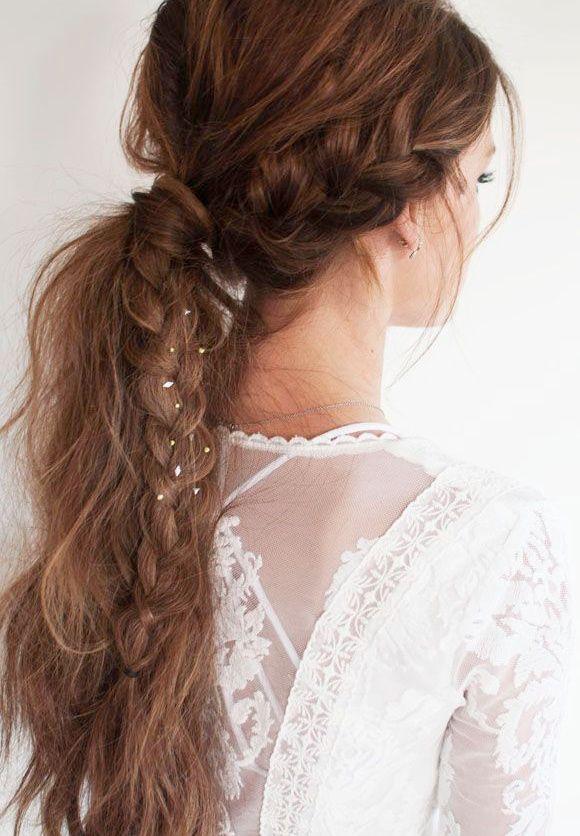 La parfaite coiffure de mariée #3 (robe Free People 2014)