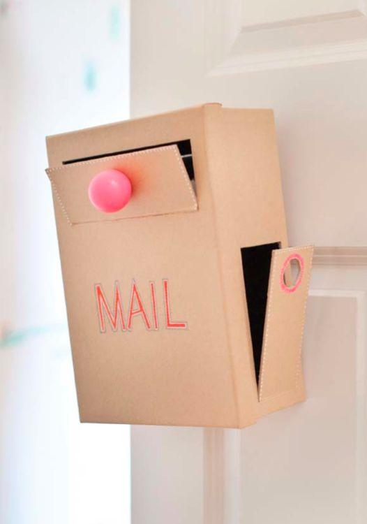 DIY cardboard mail box