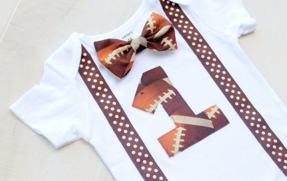 Football First Birthday Bodysuit, First Birthday Outfit, Cake Smash Outfit