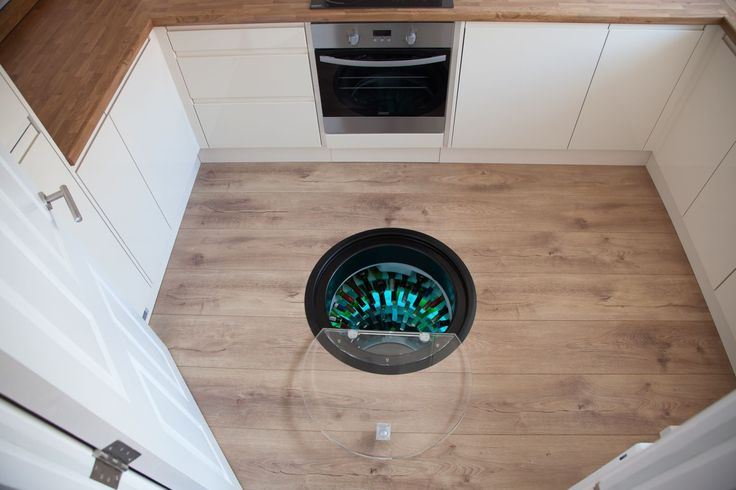 Wine Cellar Pod, Underground Wine Cellar fitted underfloor in kitchen