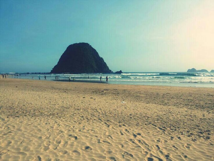 This Is Red Island or Pulau Merah on Banyuwangi East Java. A wave on this beach is very good for you (surfing lovers)