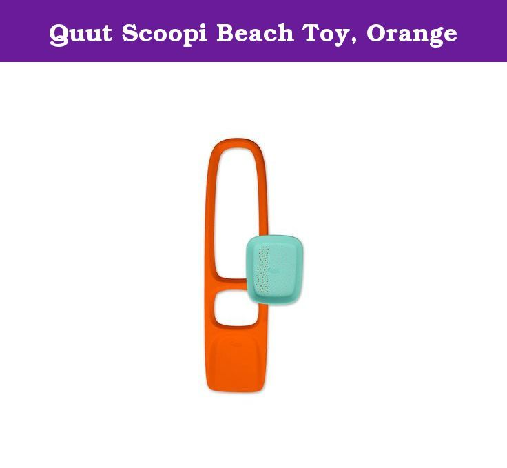 Quut Scoopi Beach Toy, Orange. The Scoppi may be the best designed sand tool ever invented. Almost 30 inches long and easy to hold, handle and maneuver you can use your hands and feet to move sand where ever you need it. (Works great with snow, too.) Come with an integrated and detachable sand sifter that snaps in and out of the Scoppi. Kid O Toys, the leader in contemporary developmental and educational toys, makes learning look like child's play. Dedicated to child enrichment through…